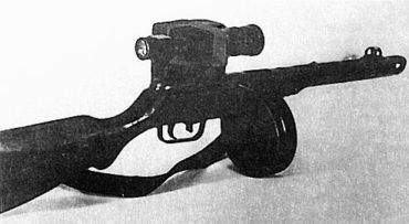 PPSz-41 z prototypowym noktowizorem