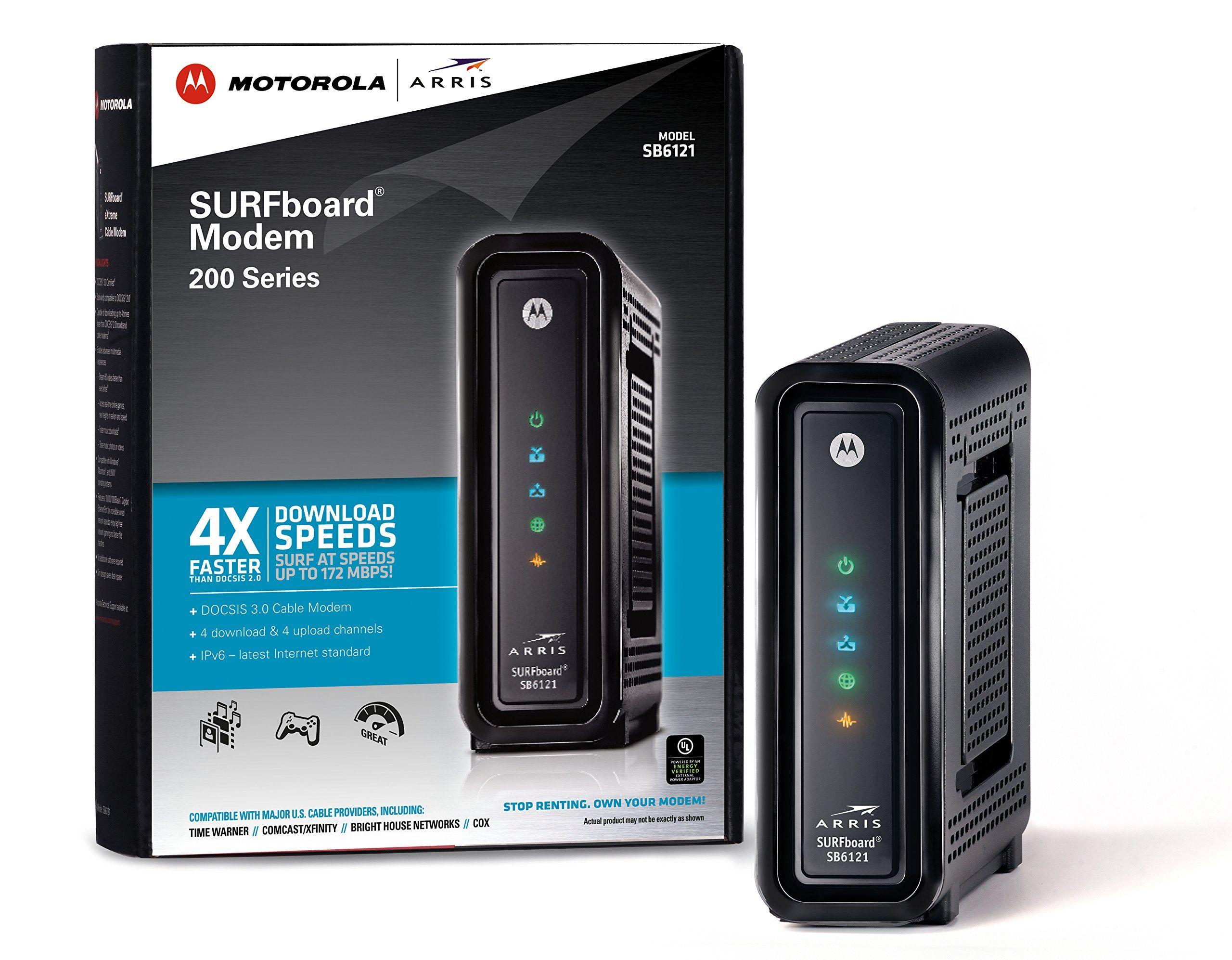 Arris Motorola Surfboard Sb6121 Docsis 30 Cable Modem Retail