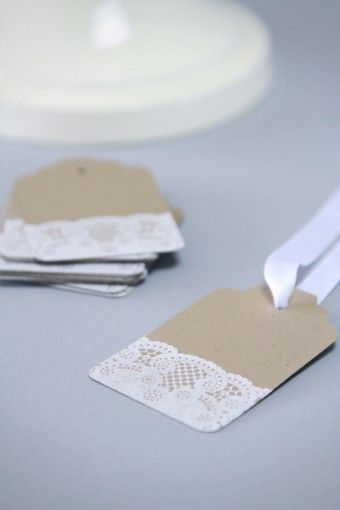 'étiquettes'  - Tags with a bit of lace washi tape