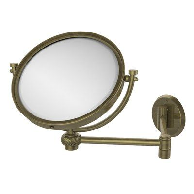 Allied Brass Modern Contemporary Makeup Shaving Mirror Wall Mounted Mirror Mirror Extendable Mirrors