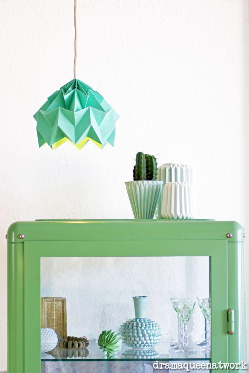 Plissee Die Lampen Diy Lampen Origami Lampenschirm Und