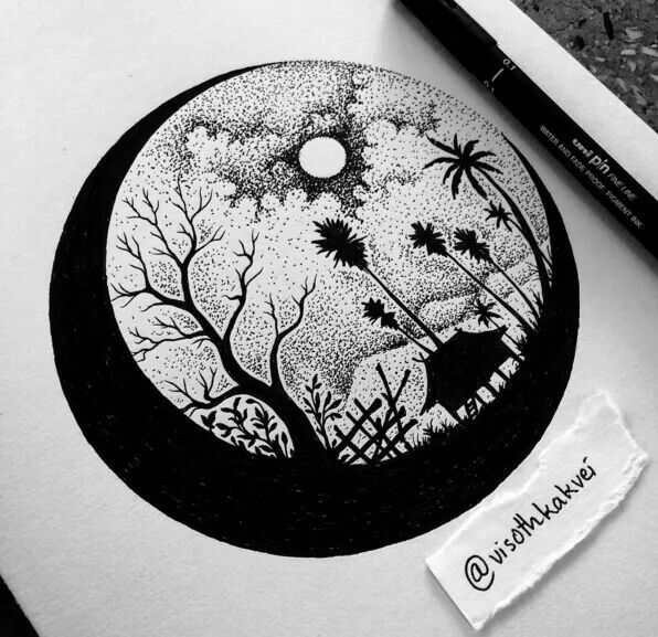 Pin By Majo Ponce On Dibujos Ink Pen Drawings Art Drawings