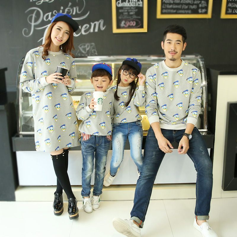 5cbd1fc0 Casual Family Clothing Sweatshirt Clothes Mother/Mom and Daughter Clothes  Father Son Matching Clothing Family Style Set CP75 Price: $19.00