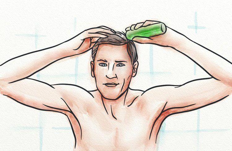 how to apply minoxidil spray
