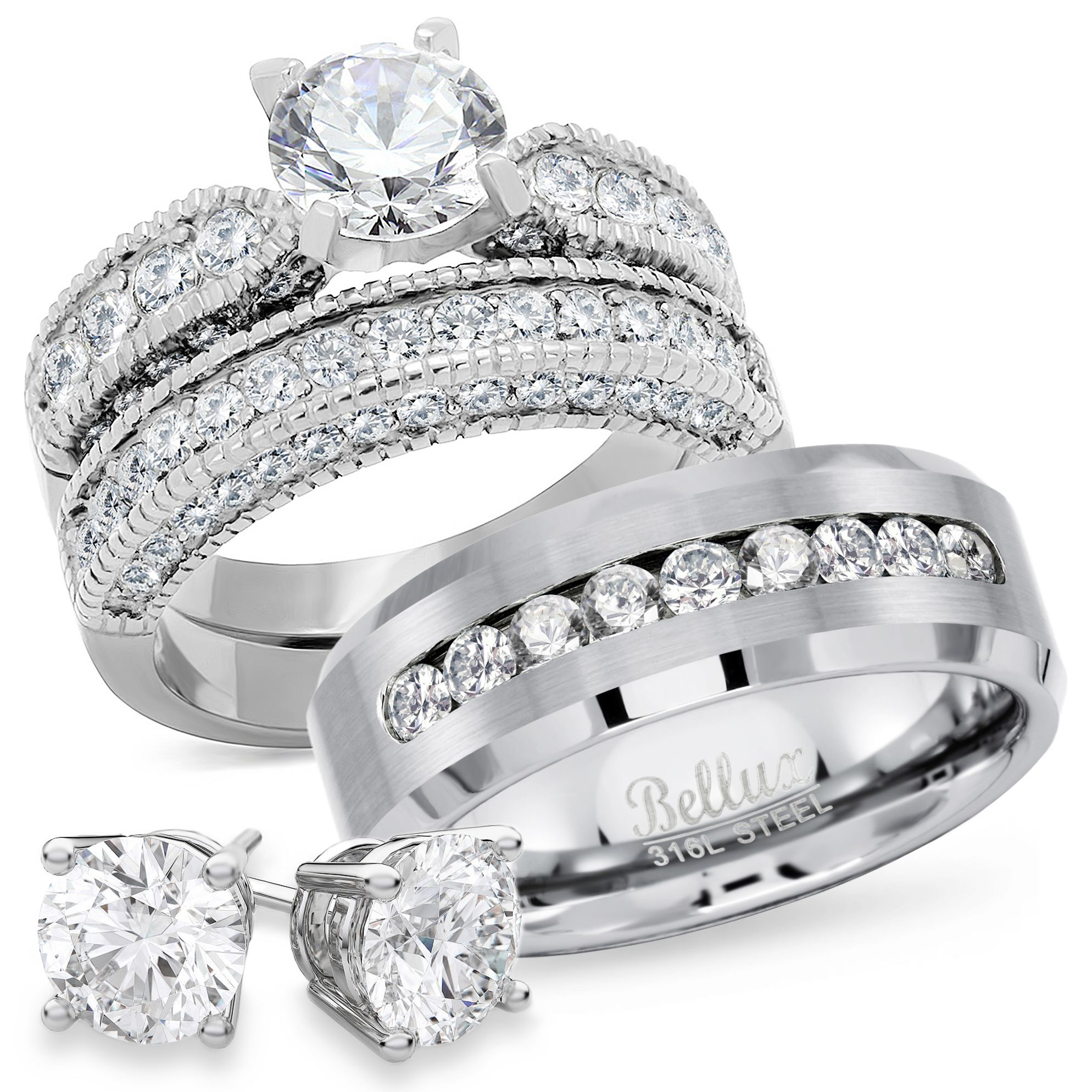 Free 2day shipping. Buy Wedding Rings Set for Him and Her