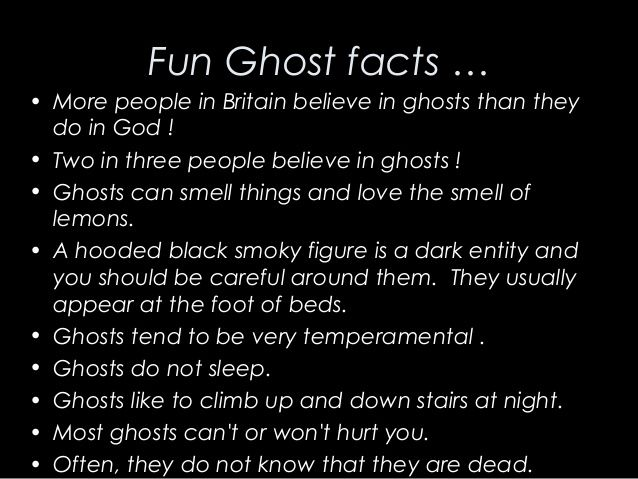 Who believes in ghosts?