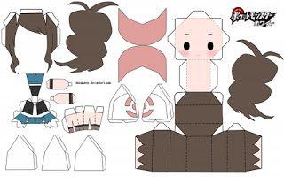 Papercraft Anime Chibi Avec Images Pliage Papier Dessin Manga