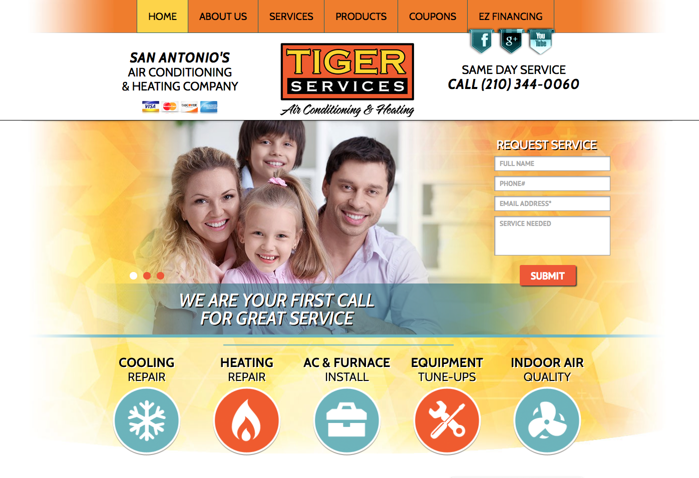 Hvac Website Design With Images Heating Company Heating Hvac