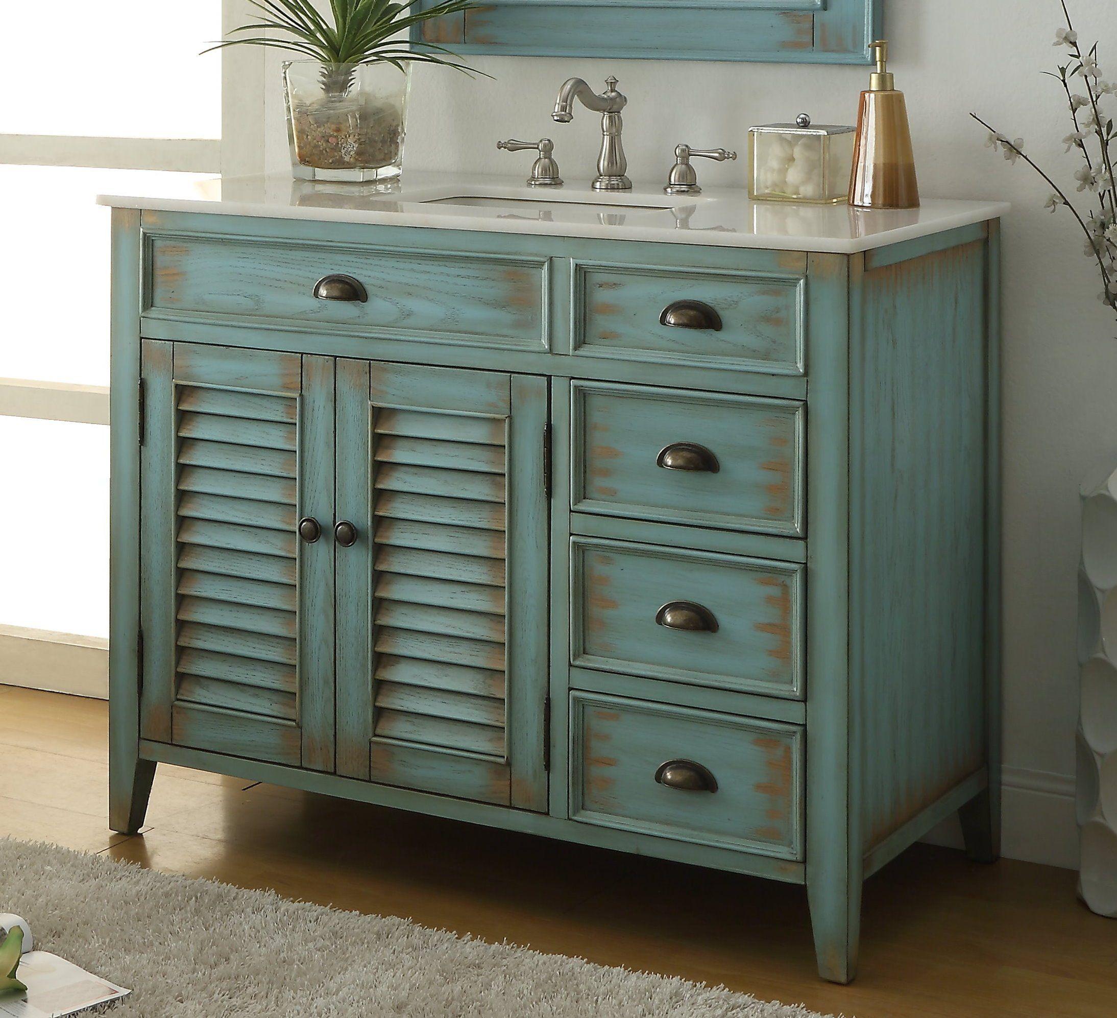 Chans furniture 42 benton collection distress blue
