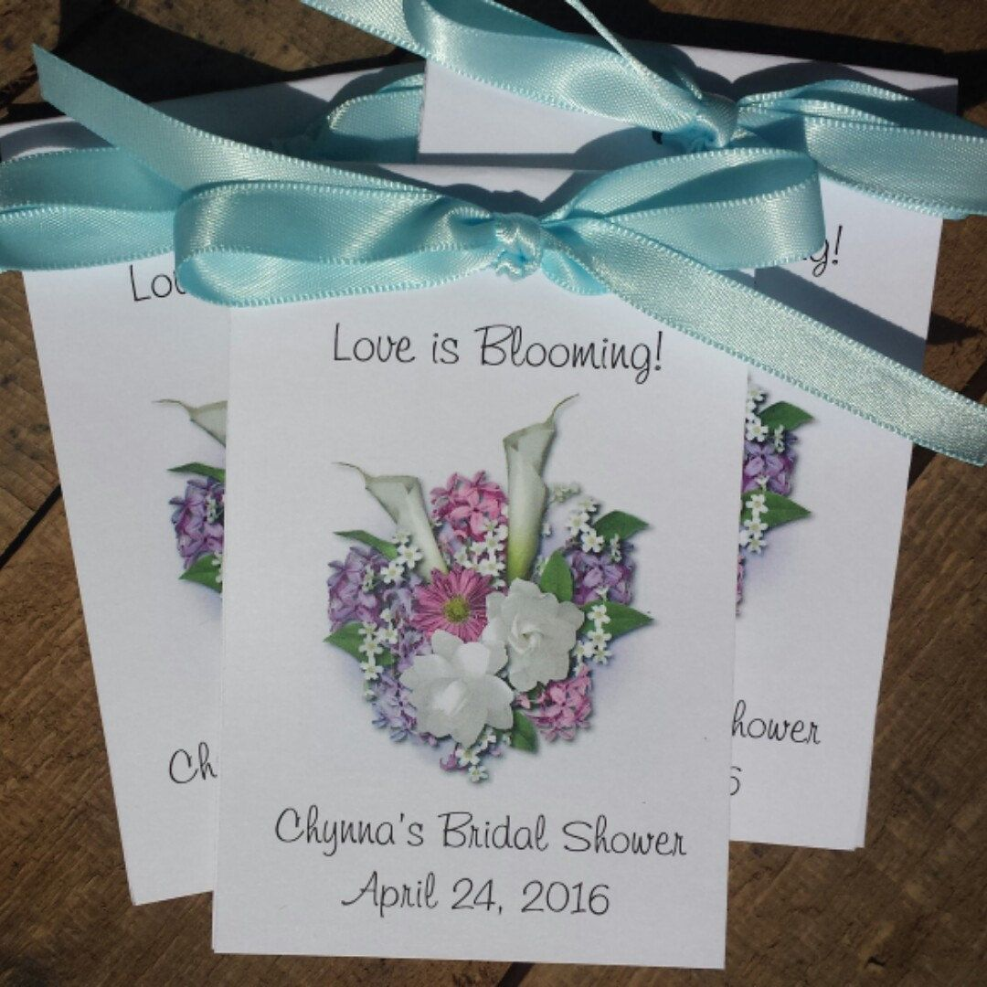Calla Lily Roses Design Bouquet Seed Packets for Bridal Shower ...