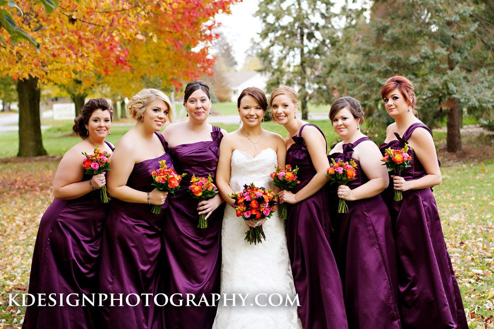 Find This Pin And More On Wedding Colors Vibrant Fall Bridal Party