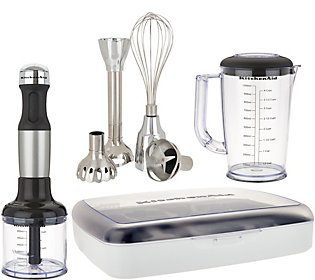 Pleasing Kitchenaid 5 Speed Immersion Blender W Case And Attachments Home Interior And Landscaping Synyenasavecom