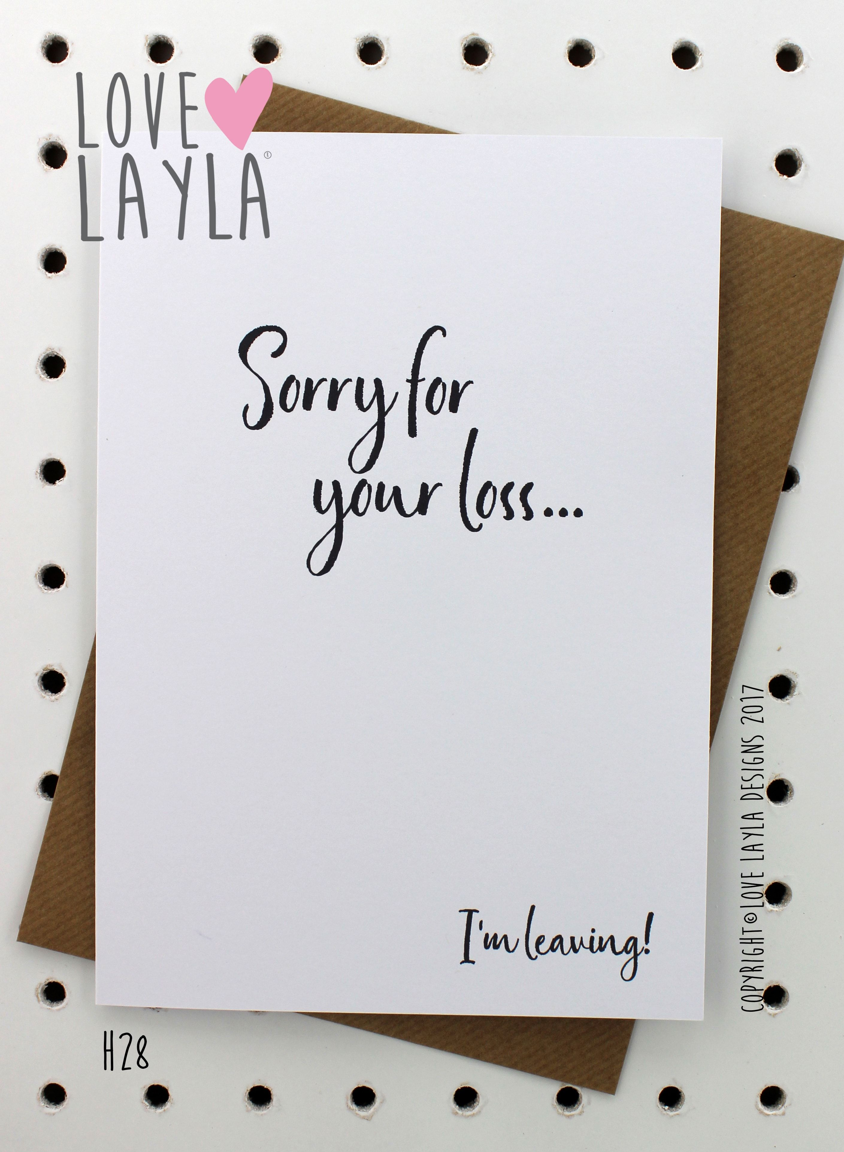 Bye bitches! #imleaving #seeya #notcomingback #bye #sorryforyourloss #newjob #retirement #farewell #lovelaylaaustralia #greetingcards #funnycards #funny #stayathomemum To buy this card, search H28 via our website