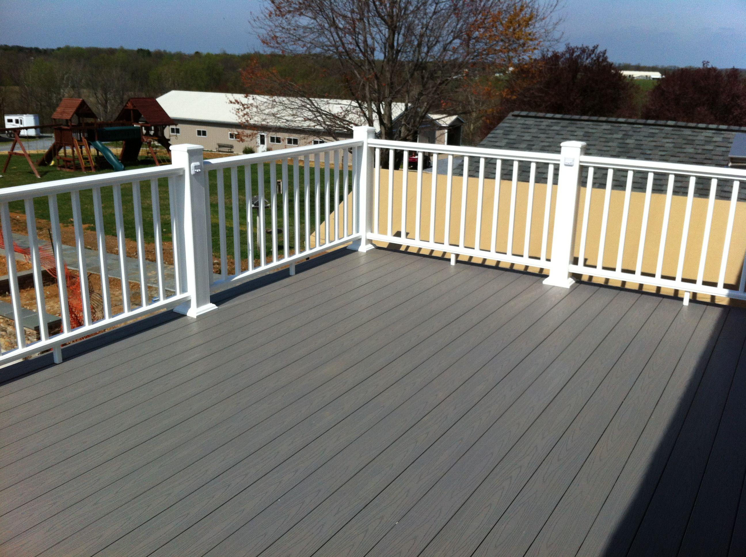 Md azek slate gray decking decks pinterest slate for Garden decking colours