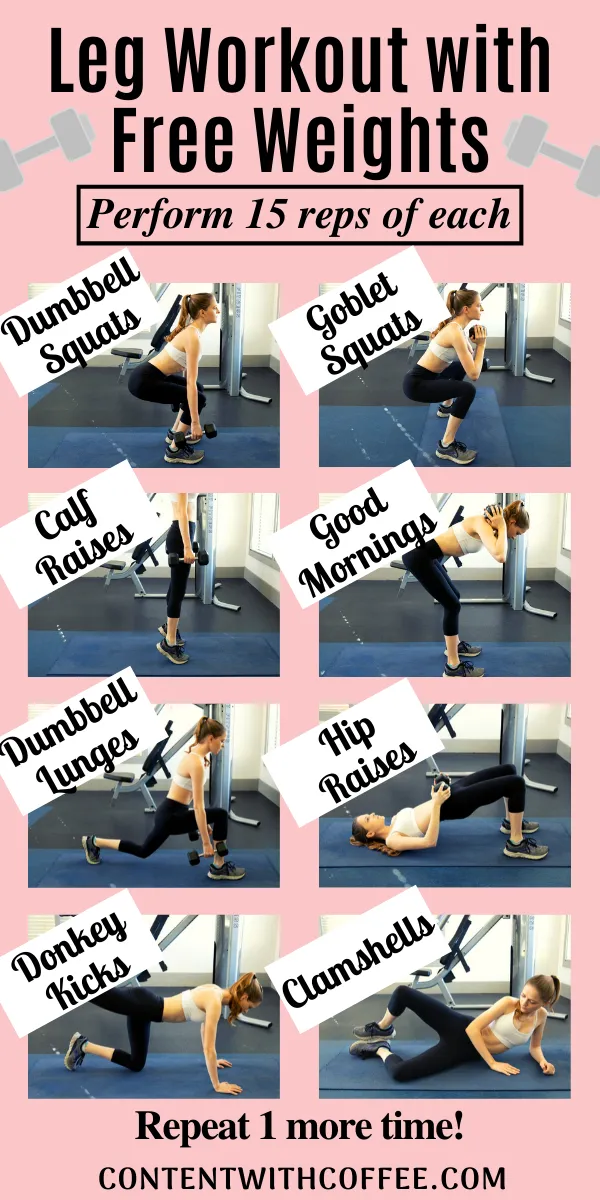 Dumbbell Leg Workout for Stunningly Toned Legs - Content With Coffee