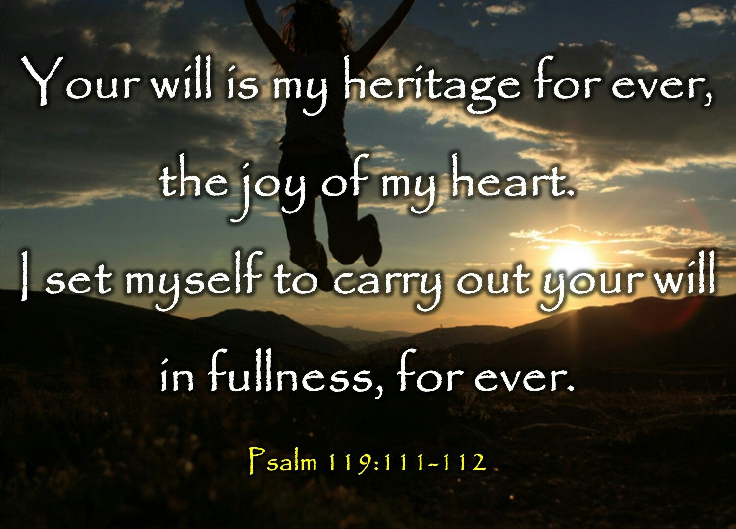 Image result for Psalm 119:111
