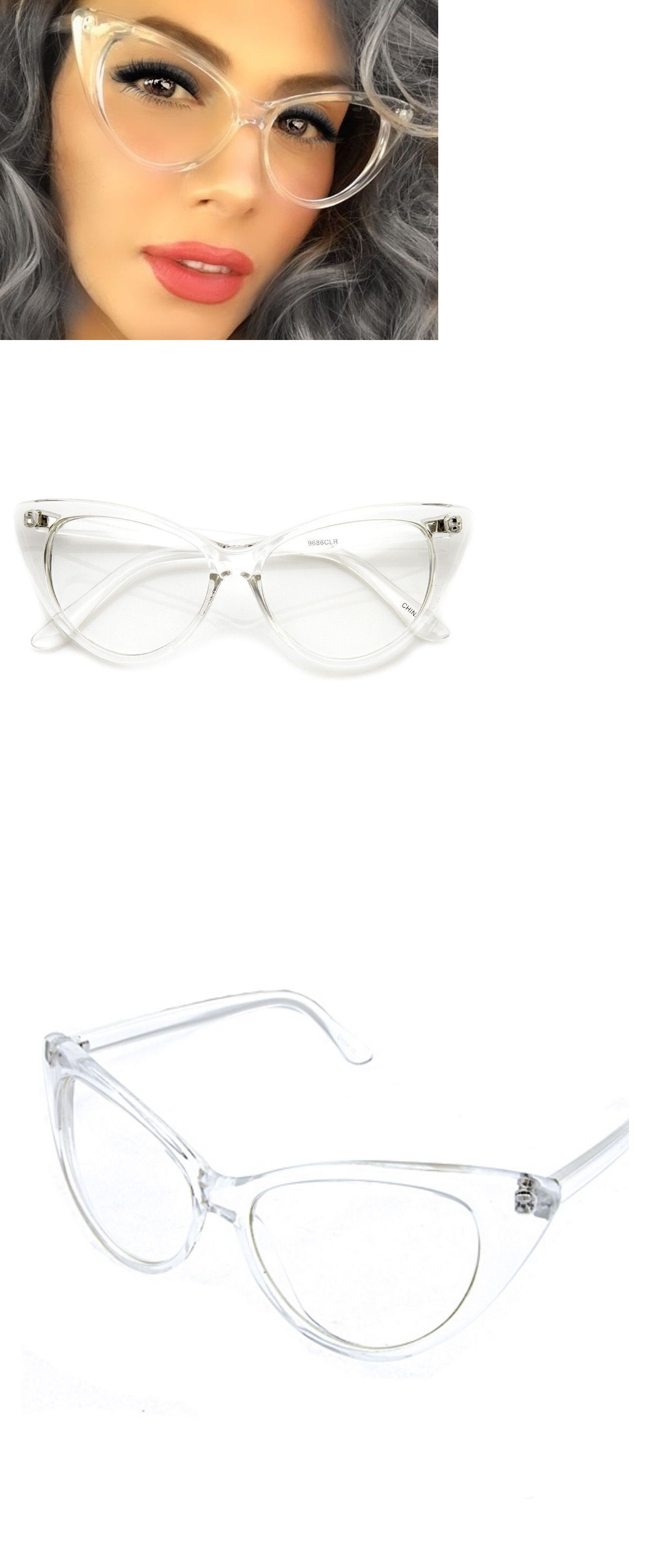 b91ce07b36cf Sunglasses and Sunglasses Accessories 179247: Women Vintage Retro 60S Cat  Eye Style Clear Lens Eye