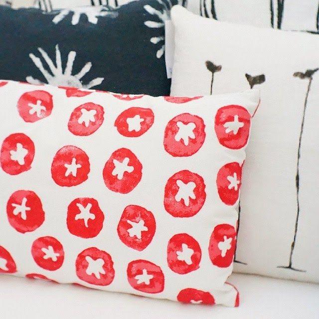 Méchant Studio Blog Pillows, Throw pillows, Red art
