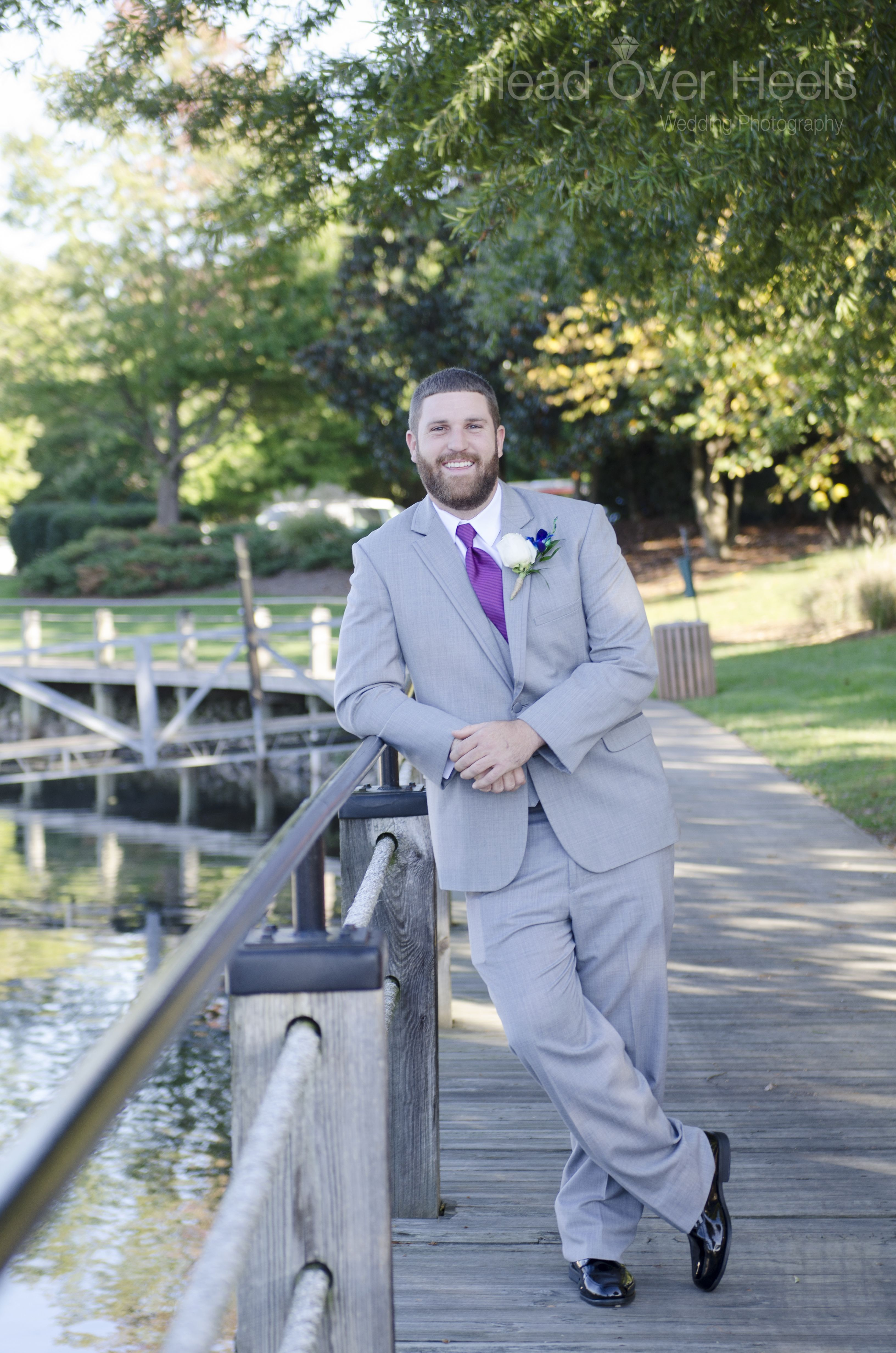 Groom\'s portrait before wedding ceremony at Peninsula Yacht Club in ...