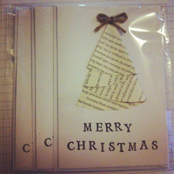 Lovely Christmas Card Crafts Ideas Part - 12: Handmade Print U0026 Twine Christmas Cards (craft Idea)