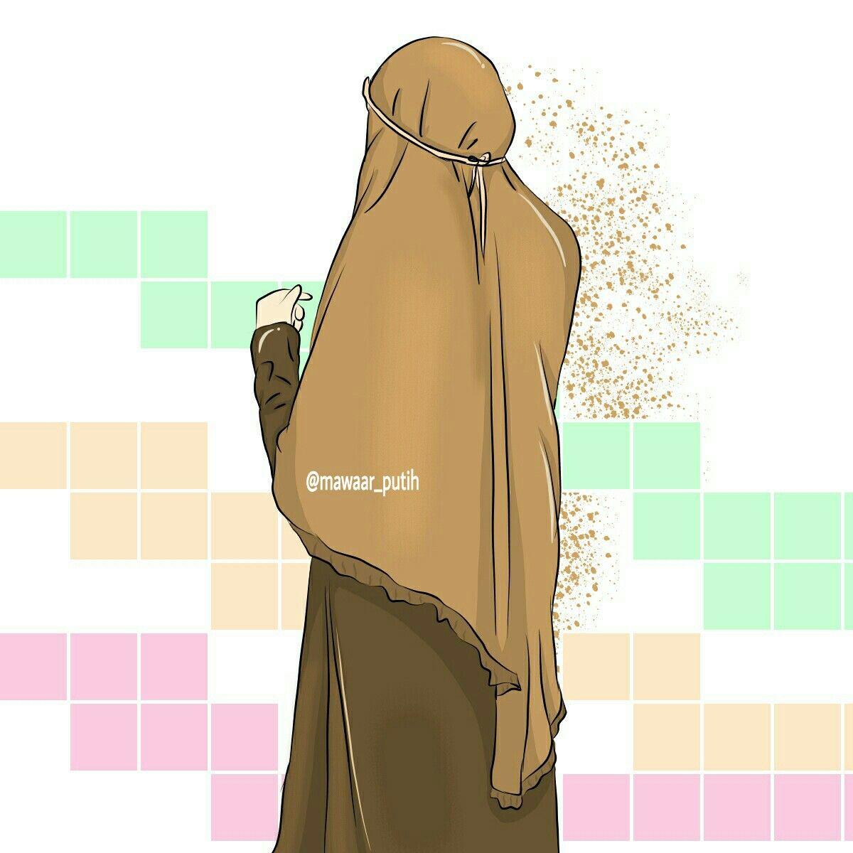 Pin oleh Vivi Z di Muslim Doodles (Dengan gambar) Kartun
