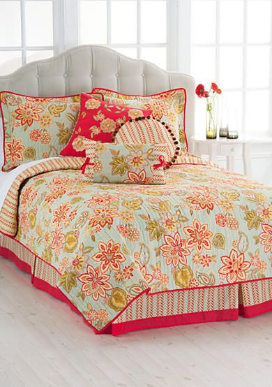 quilts piece com flourish collection cordial ip walmart bedding quilt floral waverly