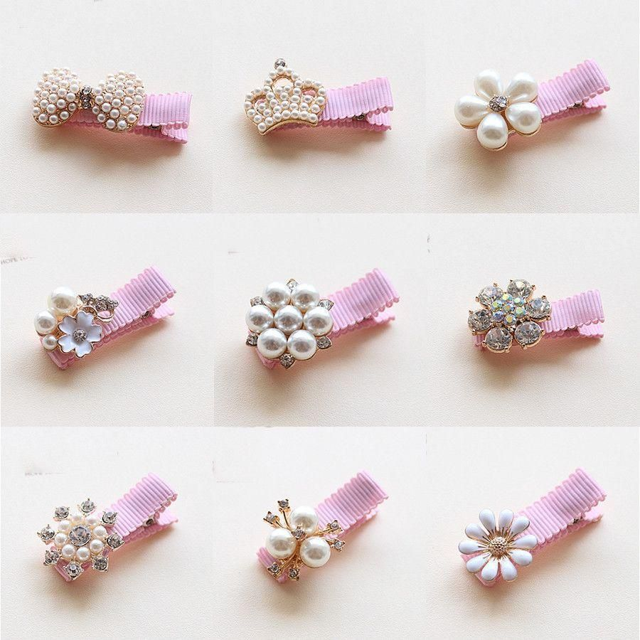 Item Type Headwear Style Fashion Material Acrylic Plastic Pattern Type Floral Department Name Childr Hair Accessories Pearl Baby Pearls Handmade Hair Clip