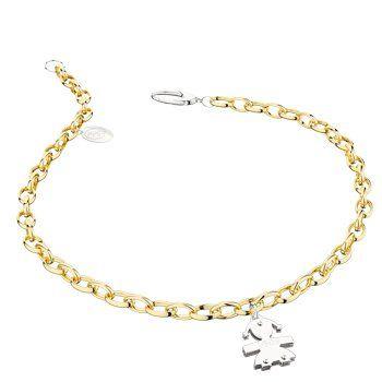 Classici - Bracciale in oro con charms. Personalizzabile con l'incisione del nome o dell'iniziale.  #lebebe #charms #oro #bracciali