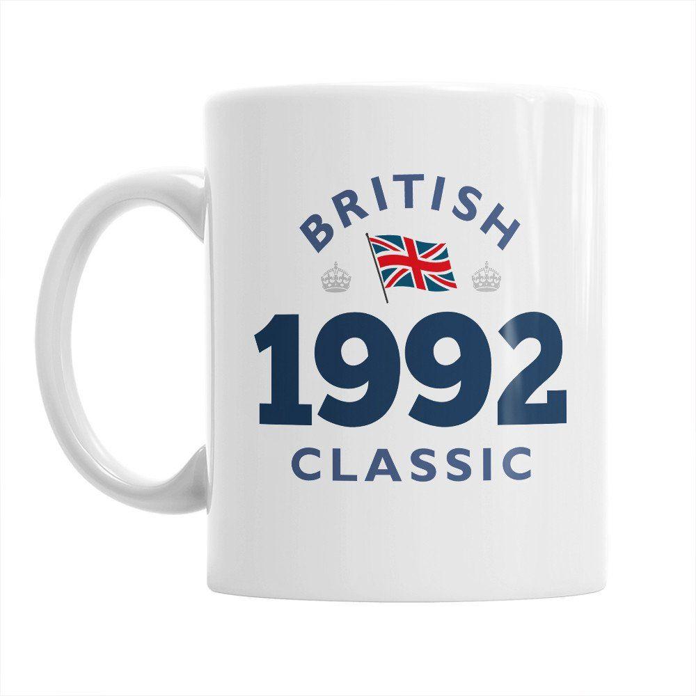 British classic 1992 mug 25th birthday 1992 birthday