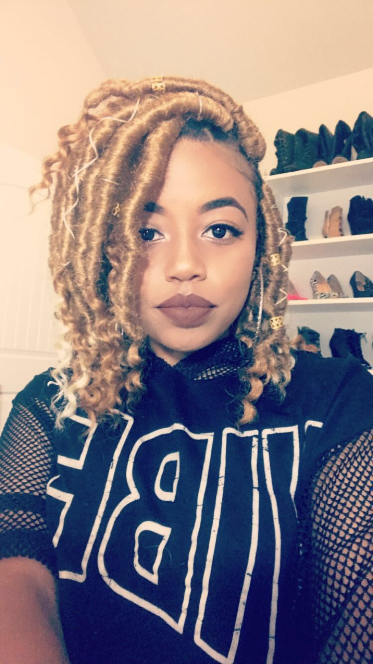 Short Blonde Goddess Locs Youtube 1nonlycash Faux Locs