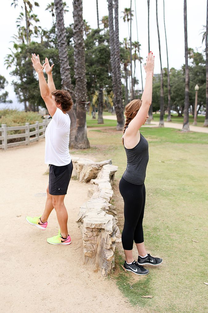 Park Bench Workout: Single Leg Sit to Stands