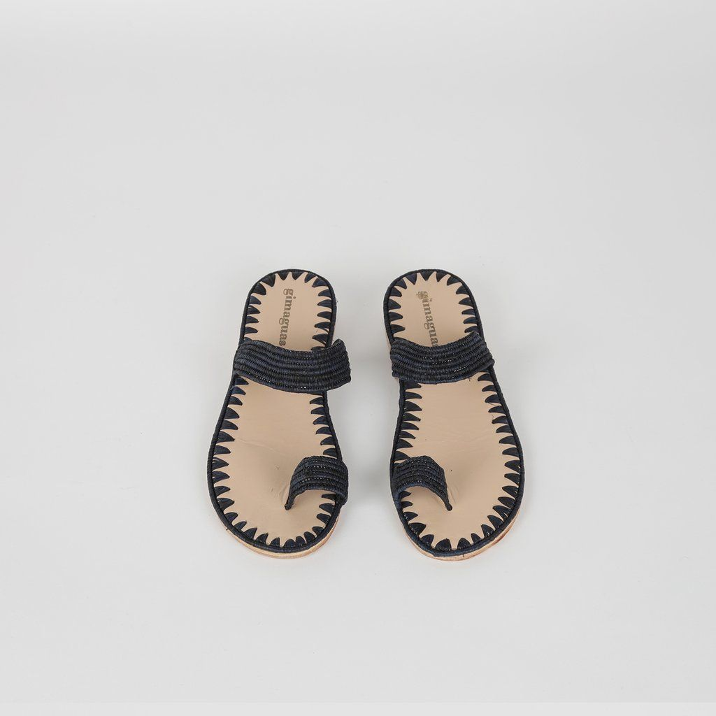 62cc14472 One Finger Rafia Sandals First Finger