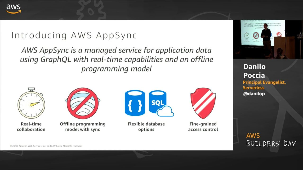 Aws Builders Day Building Real Time Serverless Backends With Graphql Real Time Data Science Day