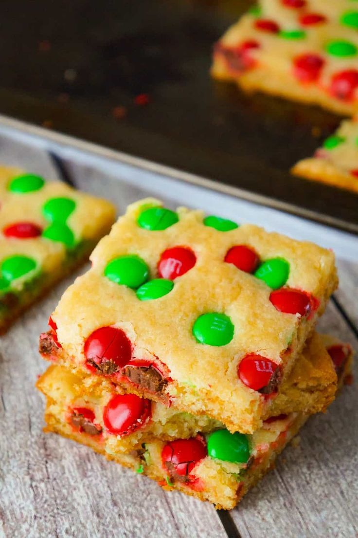 Christmas Cookie Bars are an easy holiday dessert recipe ...