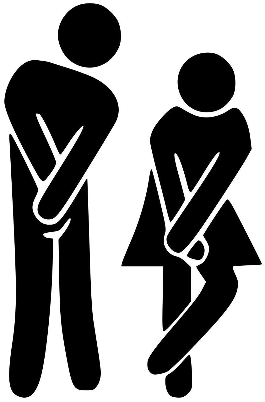 Man Woman Restroom Bathroom Door Sign Vinyl Decal Sticker