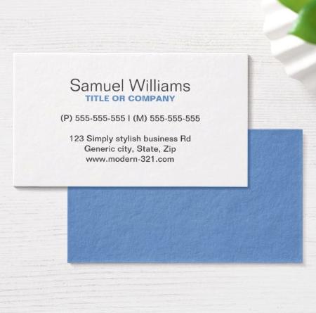 blue gray modern generic simple elegant personal business card