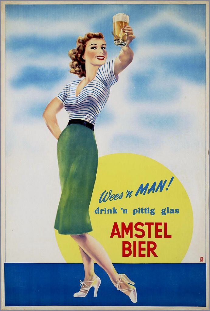 amstel | Vintage Beer Signs, Ads, Art and Commercials