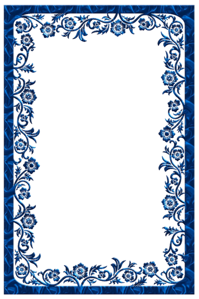 blue frame png | Large Blue Transparent Frame | Frames | Pinterest ...