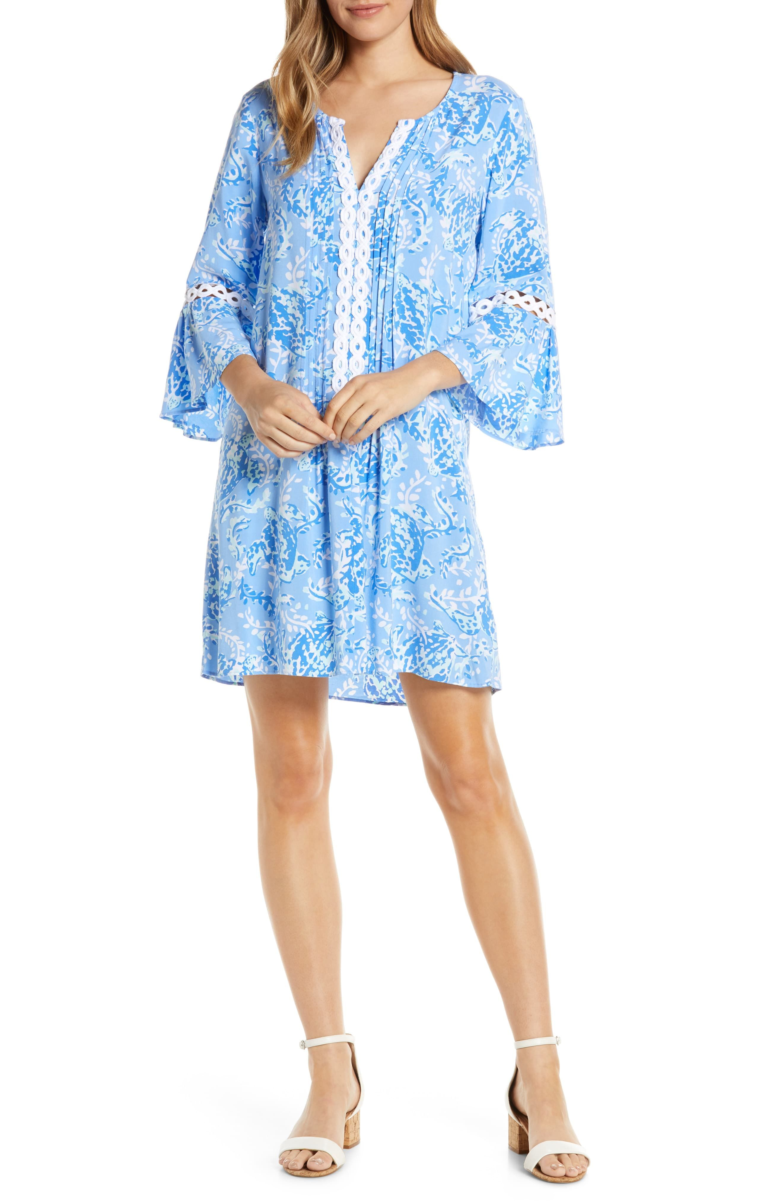 cb91eaadd6b Women's Lilly Pulitzer Hollie Tunic Dress, Size XX-Small - Blue in ...