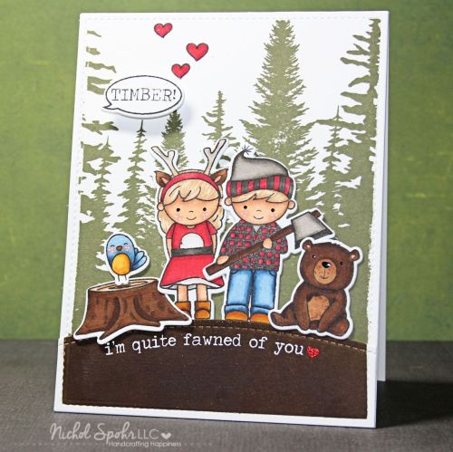 Nichol Spohr Magouirk: I'm quite fawned of you   The Great Outdoors Card featuring Neat & Tangled Lumberjack Love
