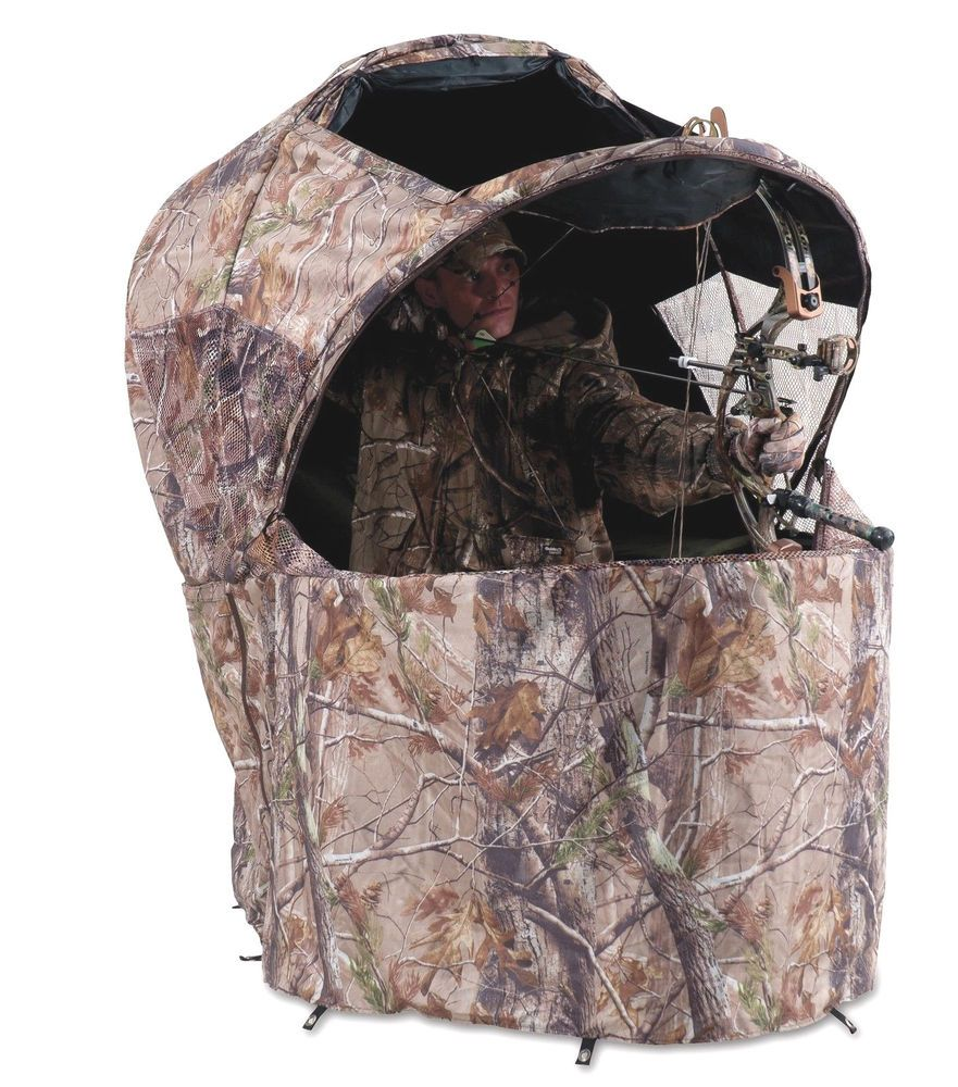 Ameristep Crossfire Hunting Ground Chair Blind Tent New 3335 Realtree Xtra Camo Tent Chair Blinds Tent