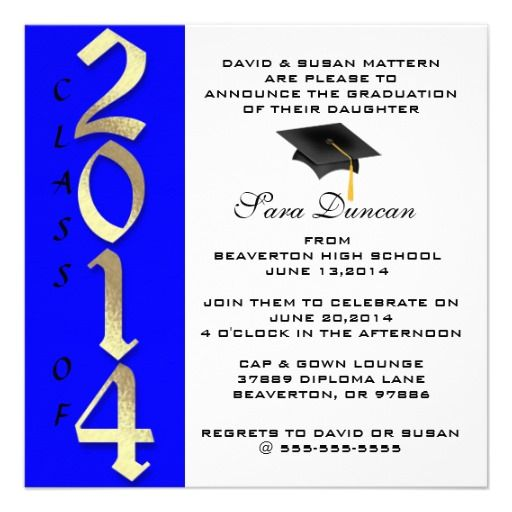 Cute Classic Elegant 2014 Graduation Invitation This site is will