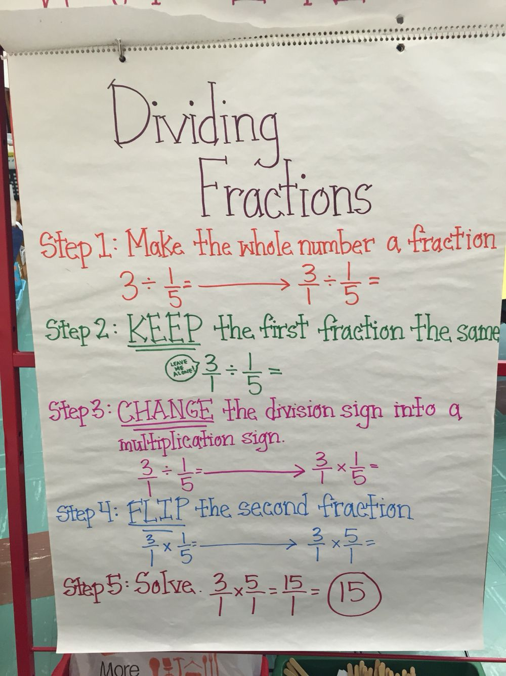 dividing fractions anchor chart | school projects | pinterest