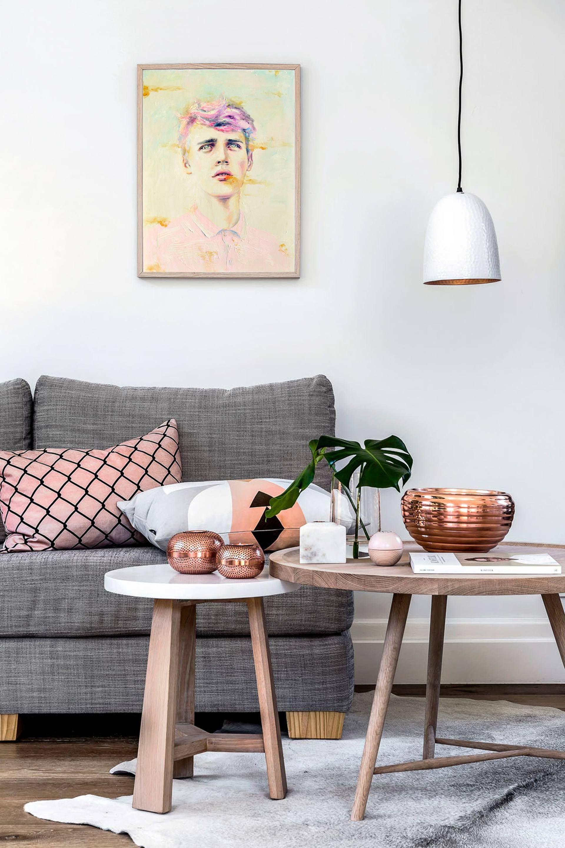 Apotelesma Eikonas Gia Grey Pink And Copper Living Room Decoracion De Interiores Decoracion De Unas Decoracion De Salas