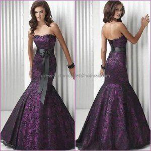 Purple Prom Dresses Black