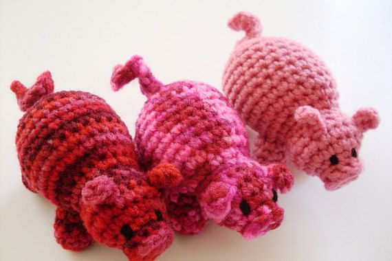 Easy Amigurumi Pdf : Easy amigurumi crochet pattern yarn piper pig toy doll crochet