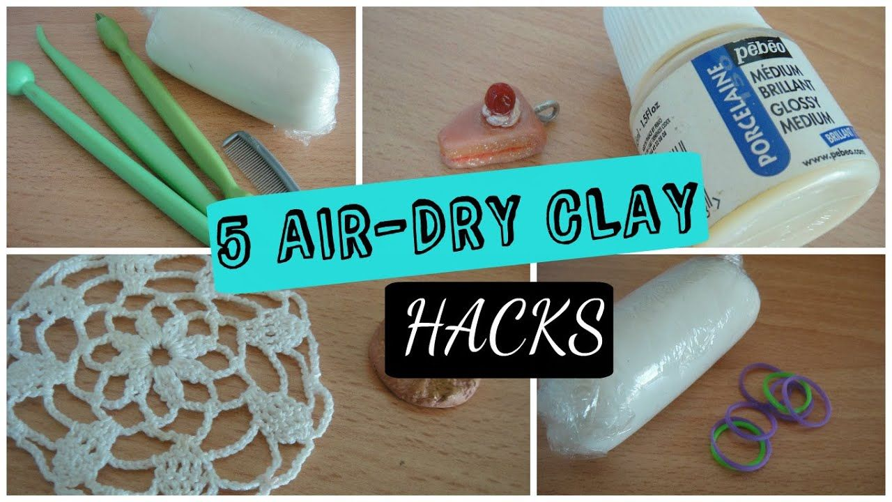 5 Air Dry Clay Hacks! in 2020 Diy air dry clay, Air dry
