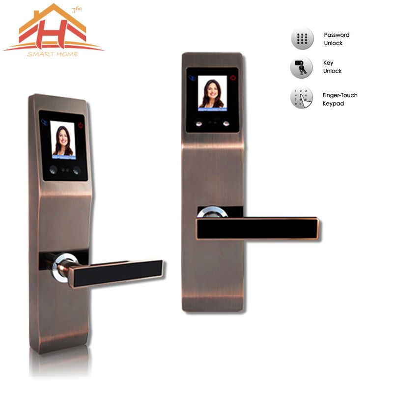 High Security Face And Password Door Lock With Touch Screen In 2020 Door Locks Touch Screen Screen