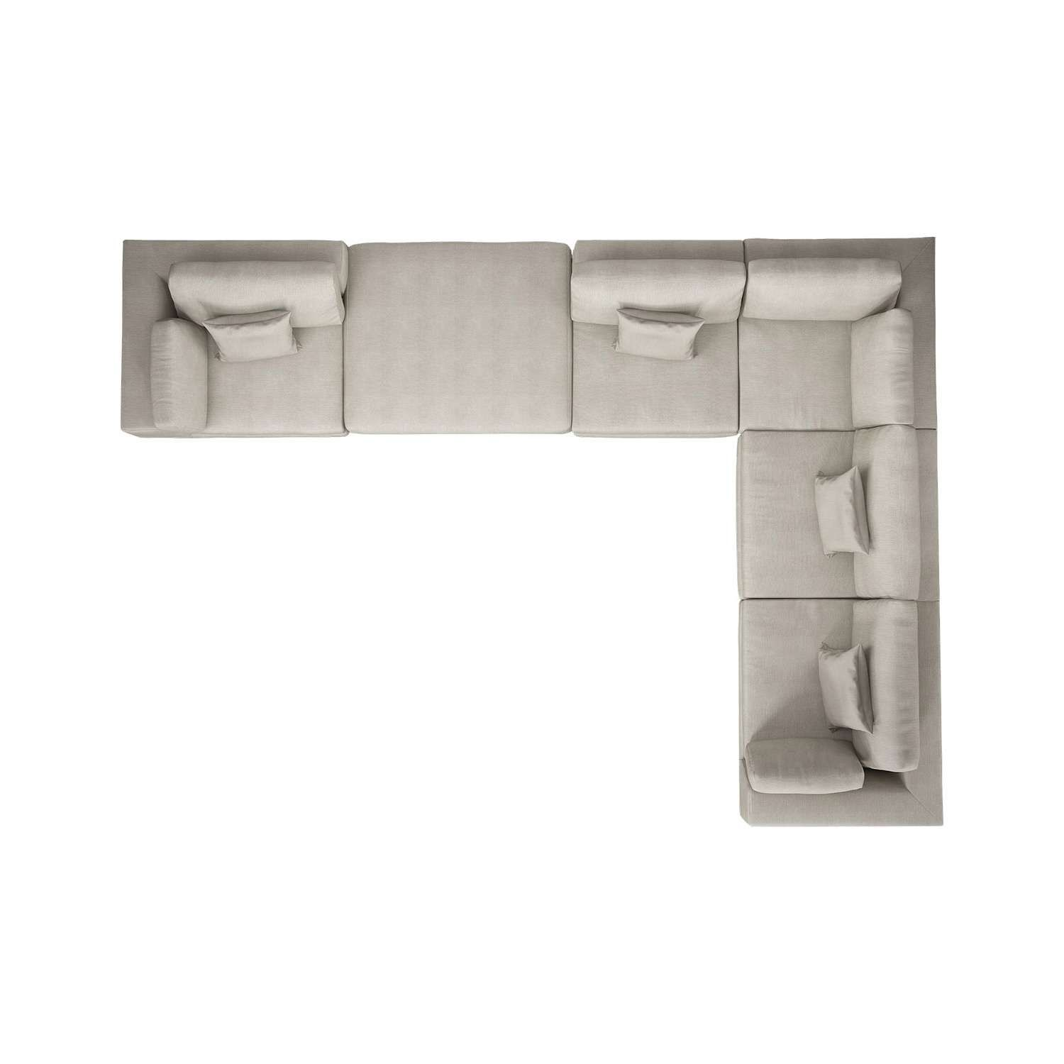Top View L Shaped Sofa House Furniture Design Modern Sectional