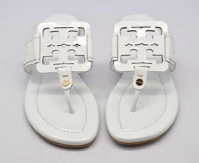 18d8fd367 Tory Burch Metallic White Square Miller Sandal Shop